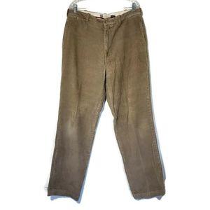 Gap Tan Clean Cut Corduroy Pants Size 36 x 34